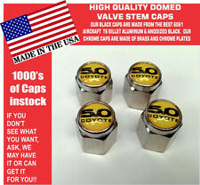 Chrome Ford 5.0 Yellow Coyote Mustang Cobra Shelby GT Valve Stem Caps - The Best