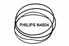 COURROIES SET PHILIPS N4504 MAGNETOPHONE A BANDE EXTRA FORT NEUF FABRIQUE N 4504