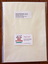 EDIBLE WAFER PAPER | A4 | 10 SHEETS | White | FREE Same Day Shipping