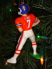 DENVER BRONCOS JOHN ELWAY CHRISTMAS ORNAMENT vintage logo orange jersey retro