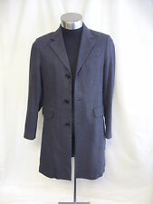 "Mens Coat Karl Jackson UK S Chest 38"" Length 39"" grey herringbone 2491"
