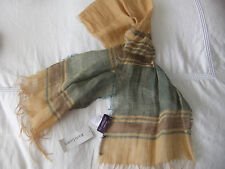 RALPH LAUREN PURPLE COLLECTION FINE LINEN SCARF FRAYED EDGE Men'/Women's Uni