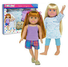 "SF Springfield 2 IN 1 SLEEPOVER SET for 18"" American Girl Dolls Pajamas Pj's NEW"