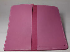 North Star Pink Side Tear Leather Checkbook Cover-First Quality-Made In USA-130