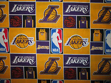 LA LAKERS NBA LICENSED QUILTING COTTON FABRIC FQ