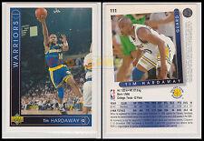 NBA UPPER DECK 1993/94 - Tim Hardaway # 111 - Warriors - Ita/Eng - MINT