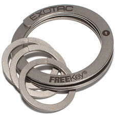 Exotac FREEKey System Easy to Use Key Ring and Three Mini Key Rings