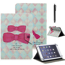 "Universal PU Leather Pattern Case Cover For 10.1"" Polaroid MID1018 Tablet+Stylus"
