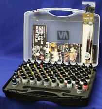 Model Air Paint Set in Plastic Storage Case (72 Colors & Brushes) Vallejo 71170