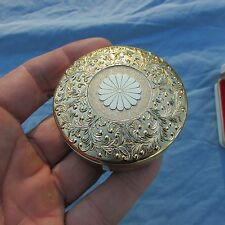 Vintage 24 k Gold Plate Imperial chrysanthemum trinket / jewelry box