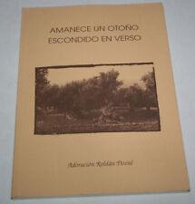 AMANECE UN OTOÑO ESCONDIDO EN VERSO, ADORACION ROLDAN DOVAL, 1997, LIBRO