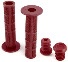 New Fit Bike Co Dark RED BF Flanged Grips BMX Fitbikeco Bicycle Brian Foster B.F