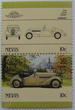 1936 ADLER TRUMPF Car Stamps (Leaders of the World / Auto 100)