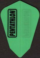 Neon Green PENTATHLON Fantail Dart Flights: 3 per set