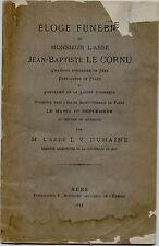 éloge funèbre de l'abbé J.B.Le Cornu chanoine de Seez,curé de Flers par Dumaine