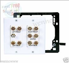 2-Gang 5.1 Surround Sound Distribution Wall Plate with Mounting 4012&7014