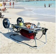 Beach Carts For Sand With Big Wheels Rio Cart Table Rolling Wheel Wonder Cup