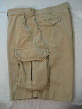 NWT POLO Ralph Lauren Classic Chino Cargo Shorts 40 100% Cotton Soft Almond