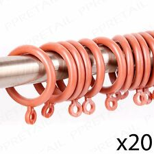 20Pc CURTAIN RINGS IN TOFFEE 28mm Inner Diameter Drapes Hoop Hook Loops Rail/Rod