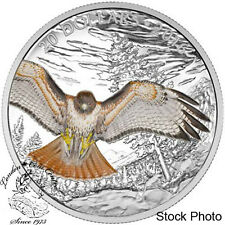 Canada 2016 $20 Regal Red-Tailed Hawk Silver Coin