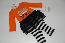 Carter's Carters Girls Size 3 Months Top Shirt TuTu Leggings Halloween Daddy NWT