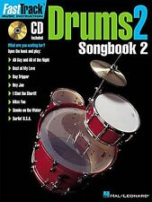 Fast Track Learn to Play Drum Drummers Music Tutor Lesson Book 2 & CD