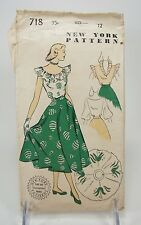 Vintage NEW YORK Sewing Pattern 718 Two piece skirt & Blouse Complete Size 12
