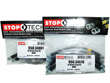 Stoptech Stainless Steel Braided Brake Lines (Front & Rear Set / 34001+34519)