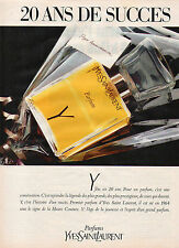 Publicité Advertising 1984  Parfum Y de YVES SAINT LAURENT