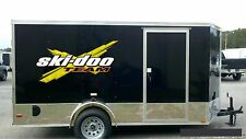 "SKI-DOO 3DX yellow HUGE Trailer Decals 24x47"" Easy Apply vinyl / decal / graphic"