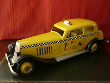Very Rare 50cm PAYA Tin Wind-up Gran Sedan Yellow Taxi Horch Oldtimer w/ Or. Box