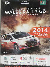2014 Wales Rally GB Official Programme  Rally of Legends  unopened