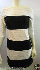 JESSICA SIMPSON BLK/IVO LACE dress with lace SIZE 4 new nwt
