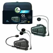 7INTERFONO INTERPHONE CARDO SCALARIDER Q1 TEAMSET kit X 2 caschi Bluetooth mp3