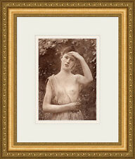 "Gorgeous RAPHAEL COLLIN 1800s Antique Print ""The Young Beauty"" SIGNED Framed COA"