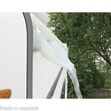 Camco RV White Rain Gutter Spouts Water Extension UV Part Trailer Camper 42134