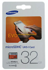 SAMSUNG Micro SDHC UHS-I Card 32GB Class 10 EVO ULTRA HIGH SPEED Retail Pack