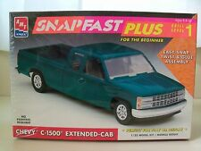 AMT / ERTL CHEVY C-1500 EXTENDED-CAB PICKUP TRUCK SNAPFAST MODEL KIT (SEALED)