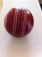 Test Crown Red Cricket Ball - Leather Entirely Hand Stitched, 5.5oz For 50 Overs