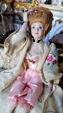 Miniature Dollhouse Artisan Doll In Sexy 19 Century Lingerie Dress