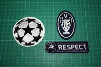 UEFA CHAMPIONS LEAGUE, RESPECT and 9 TIMES TROPHY BADGES 2009-2011