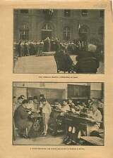 Religieuse décoré Hôtel-Dieu  Laval /Typewriter School Germany 1921 ILLUSTRATION