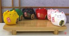 Japonais maneki neko lucky cats six ronds multicolores