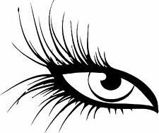 2 beautiful eyes with long lashes  vinyl wall decal or bumper sticker