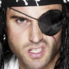 Vestido Elaborado de Pirata Ojo Parche TAPAOJOS Satén Caribe Pirata Smiffys Nuevo