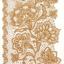 4x Single Table Party Paper Napkins for Decoupage Decopatch Gloria Lace Copper