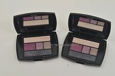 2 LOT Lancome Eye Shadow Liner 5 Color Palette 301 MAUVE CHERIE .07 oz x 2 New