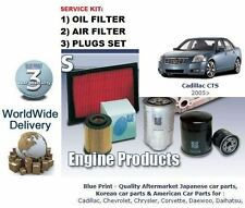 CADILLAC CTS 2.8i V6 2005-  SERVICE KIT OIL AIR  ( 2 ) FILTER & SPARK PLUGS SET
