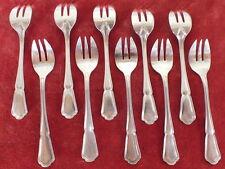 10 fourchettes à huitre métal argenté Ercuis oyster forks