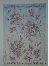papier pour découpage technique serviette (thème:guirlande de fleur) 68X48cm